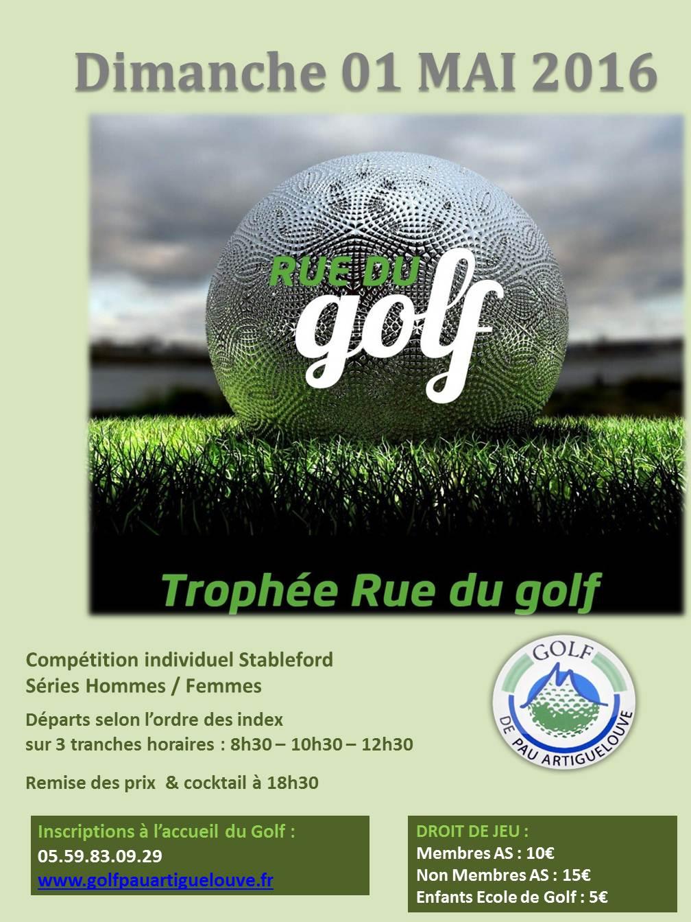AFFICHE 2016 Trophée rue du golf 1